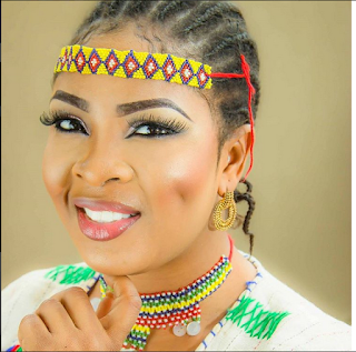 Actress Bidemi Kosoko Flawless In Native Outfits As She Marks Her 28th Birthday