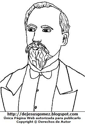 Dibujo de Antonio Raimondi para colorear pintar imprimir. Imagen de Antonio Raimondi de Jesus Gómez