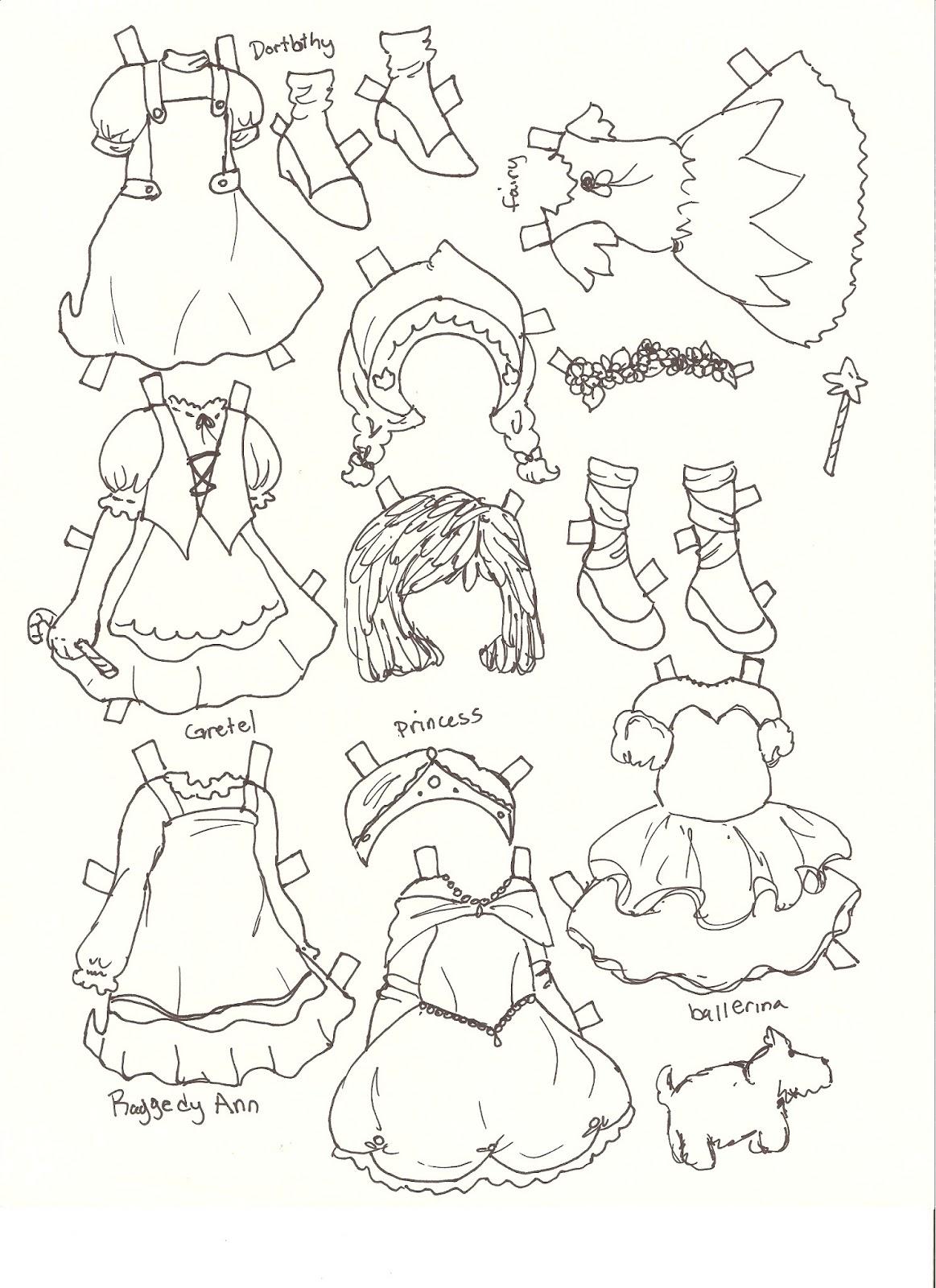 miss missy paper dolls heidi fairy tale style paper doll. Black Bedroom Furniture Sets. Home Design Ideas