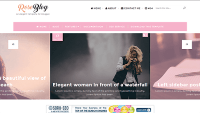 Rose Blog Blogger Template