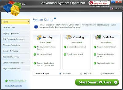 برنامج صيانة الويندز Advanced System Optimizer اخر اصدار