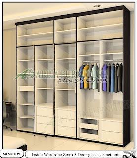 Dalam lemari tipe minimalis cabinet unit Zorro