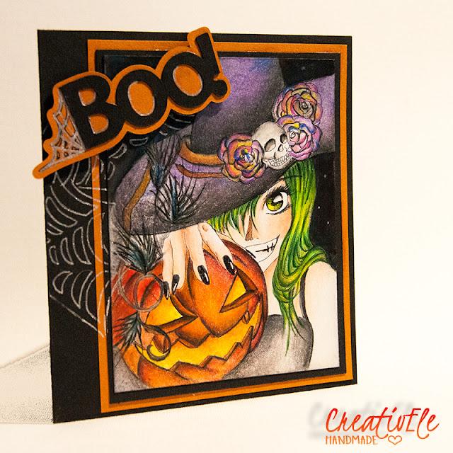 creativEle with BOO! scrapcard