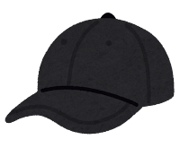 野球帽のイラスト(黒)