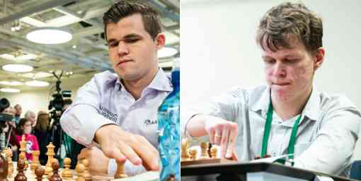 Magnus Carlsen et Vladislav Artemiev mènent l'open de blitz avec 9,5 points sur 12 (+7!) - Photo © Lennart Ootes