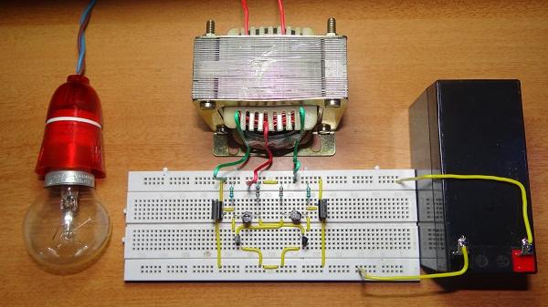 محول كهرباء من 12v الى 35w 220v