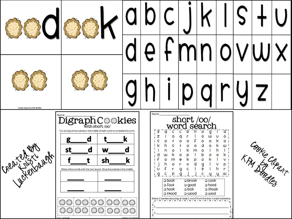 Lucky in Learning: Freebie Friday- Vowel Digraph Short /u/ or