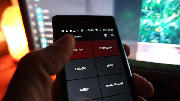 كيف يمكنني اطفاء حاسوبي من خلال هاتفي؟