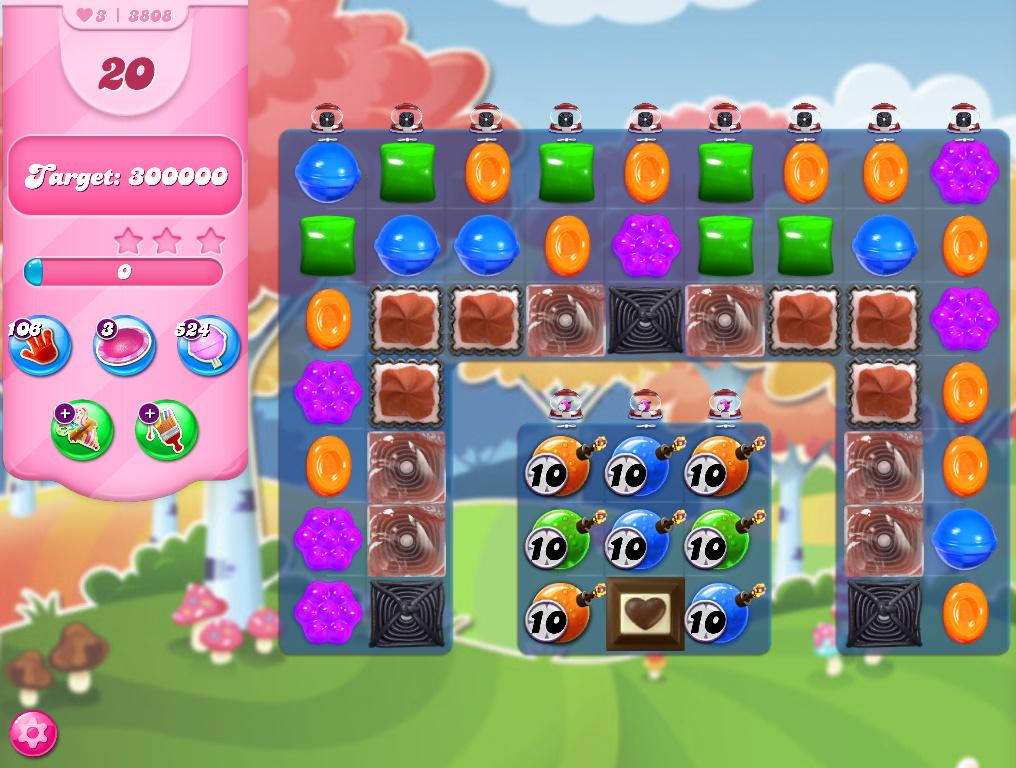 Candy Crush Saga level 3808