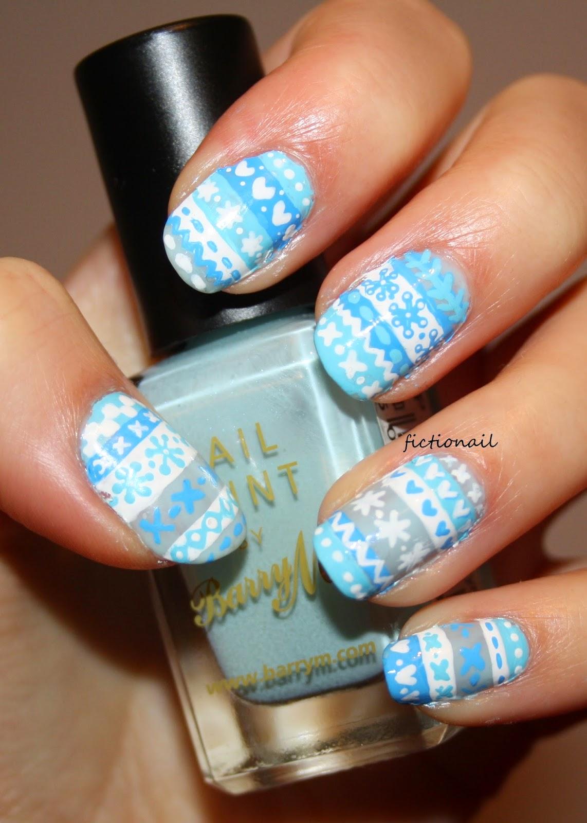 Fair Isle Pattern Nails