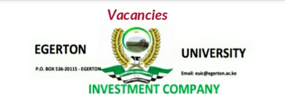 Vacancies Egerton university
