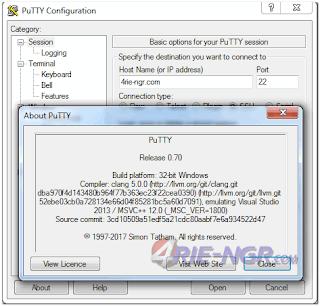 PuTTY 0.70 Terbaru Gratis