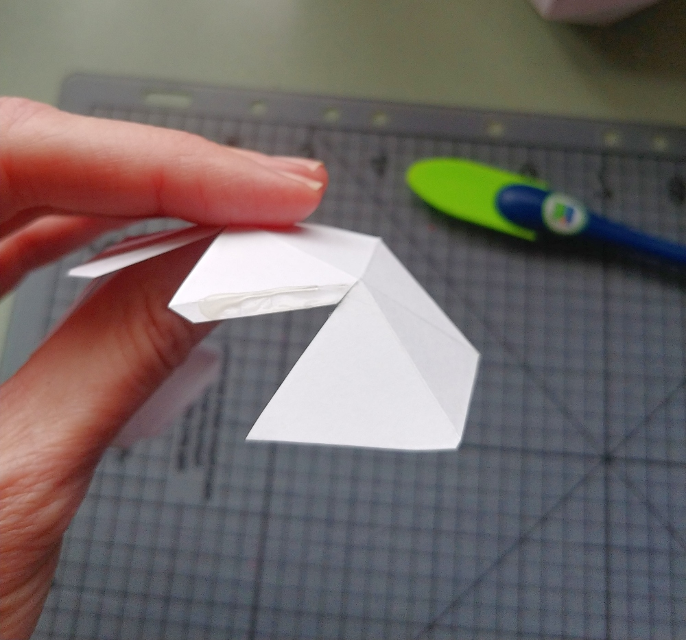 glue each flap