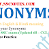 Synonyms were asked various SSC Examination till 2017 PDF Download