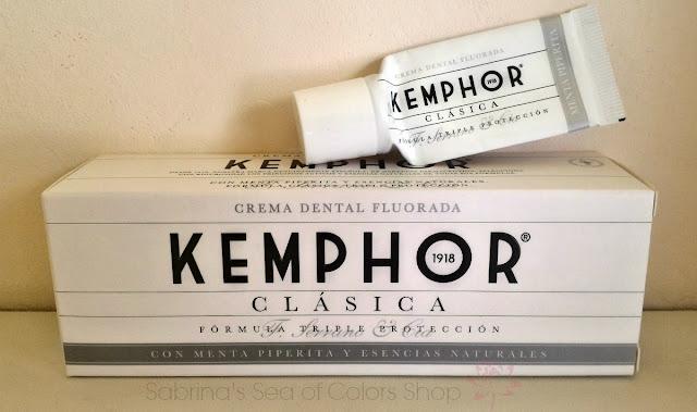 Productos terminados pasta dental Kemphor