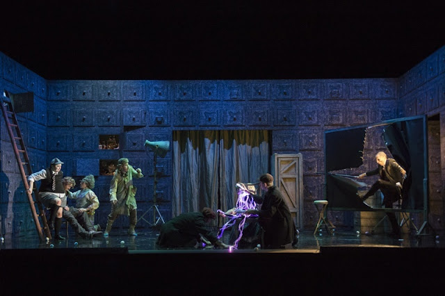 Act One, Olympia with the doll centre stage - Offenbach's The Tales of Hoffmann, English Touring Opera, © Richard Hubert Smith