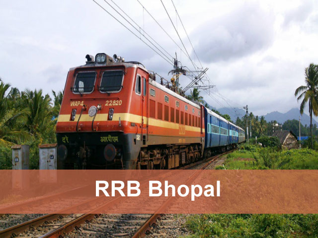 RRB Bhopal 2018 Application Status Exam Date (Group D) Loco Pilot, ALP