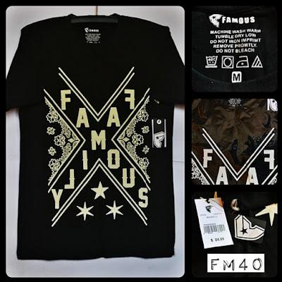 Kaos Distro Surfing Skate FAMOUS Premium Kode FM40