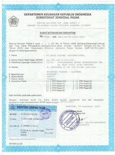 contoh npwp - nomor pokok wajib pajak