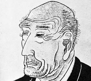 Auto-portrait de l'artiste Katsushika Hokusai
