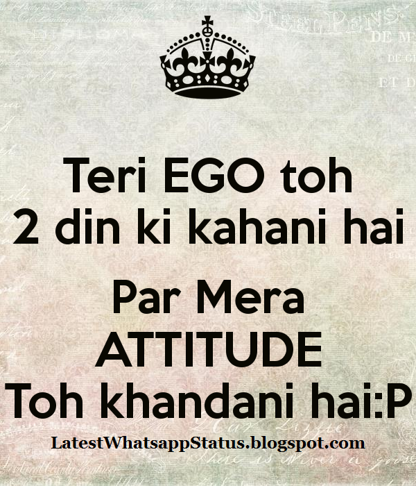 New Ego Attitude Status And Love Quotes Whatsapp Status Quotes