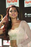 Prajna Actress in backless Cream Choli and transparent saree at IIFA Utsavam Awards 2017 0033.JPG