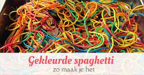 gekleurde spaghetti