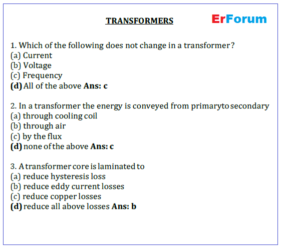transformer-mcq-pdf-download