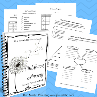 Templates, printables, templates for childhood anxiety