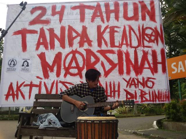 Aksi Simpatik Marsinah 24 Tahun Dilupakan Tanpa Keadilan