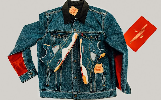 Air Jordan IV Levi denim Trucker Jacket.