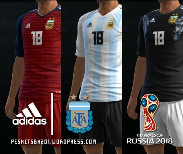 Argentina 2018 World Cup Kits PES 2013