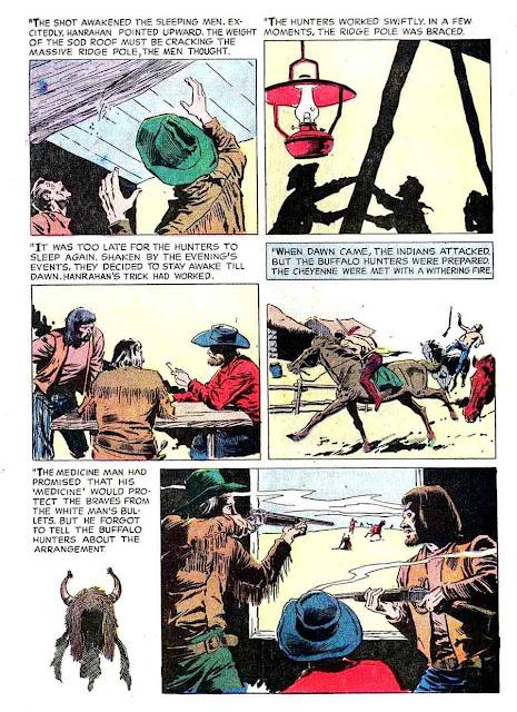 Gunsmoke v2 #10 golden silver age comic book page art by Al Williamson