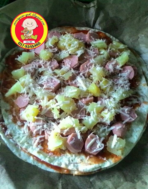pizaa thin crust ala-ala domino dan pizza hut