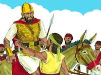 Тогава едомецът Доик, който стоеше при Сауловите слуги, проговори: Видях Есеевия син, че дойде в Ноб при Ахимелех