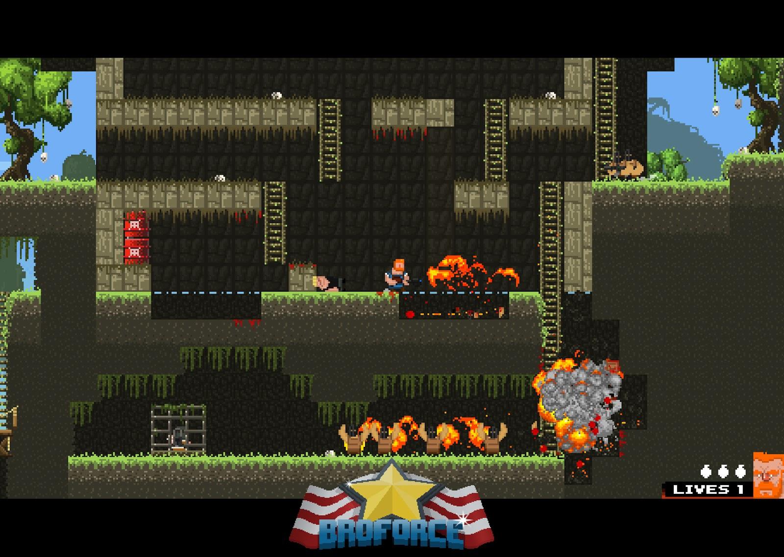 Indie Retro News: BROFORCE - An epic 2D action platformer ...