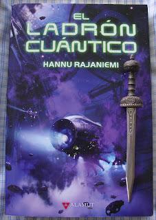 Portadad del libro El ladrón cuántico, de Hannu Rajaniemi