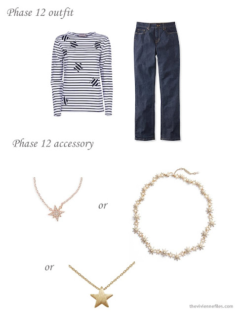 adding a star necklace to a capsule wardrobe