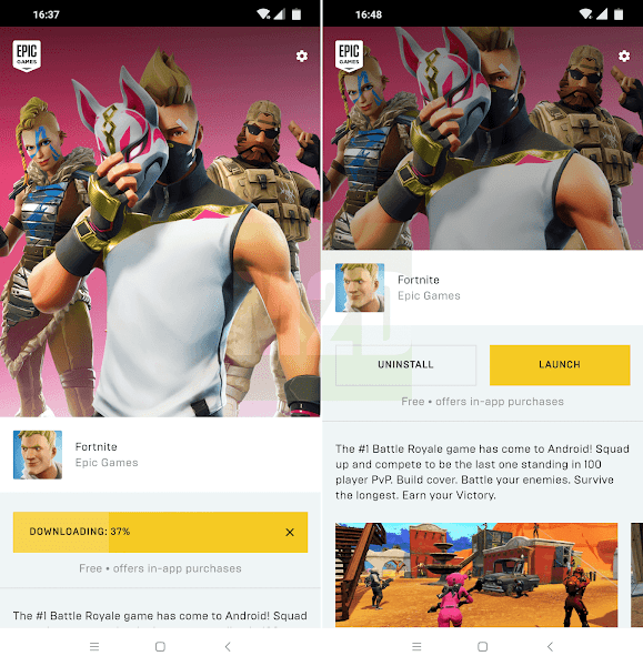 Update Fortnite APK Android