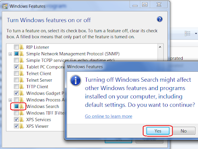 disable Search Box Option from Start menu