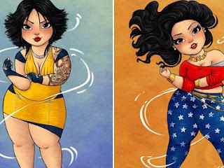 Artista brasileiro ilustra super-heroínas em versão plus-size