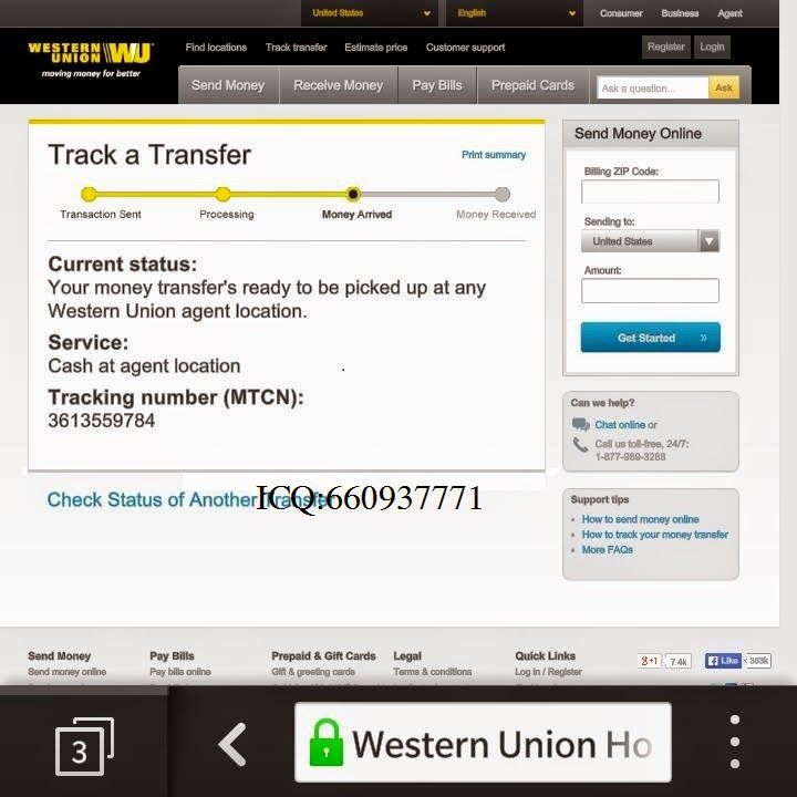 Online S Accepting Western Union