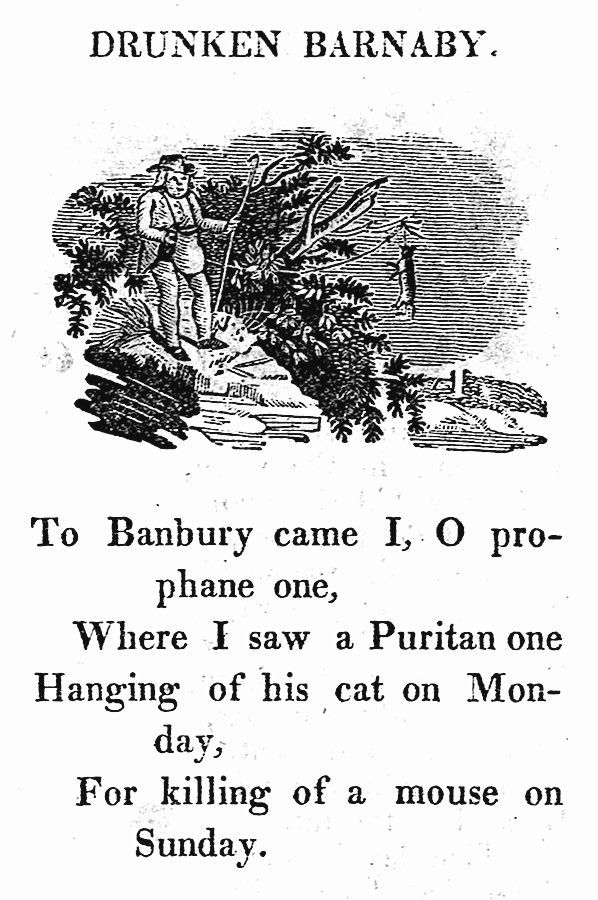 an 1815 school book, Drunken Barnaby