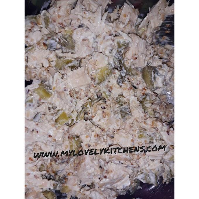 Salad with chicken meat-Salata sa pilecim mesom