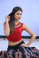 Telugu Actress Nishi Ganda Stills in Red Blouse and Black Skirt at Tik Tak Telugu Movie Audio Launch .COM 0140.JPG