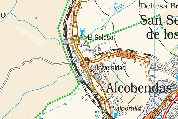 Reforma del enlace de la carretera m 607 con la m 616 en - Reformas en alcobendas ...