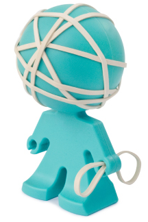 rubber band holder shaped like standing person