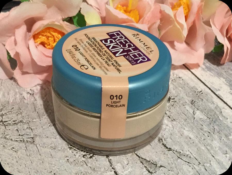 rimmel fresh skin light porcelain foundation review