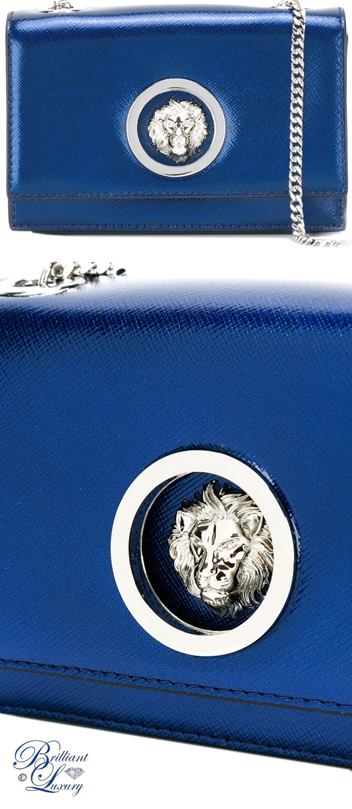 Brilliant Luxury ♦ Versus Lion Head Shoulder Bag