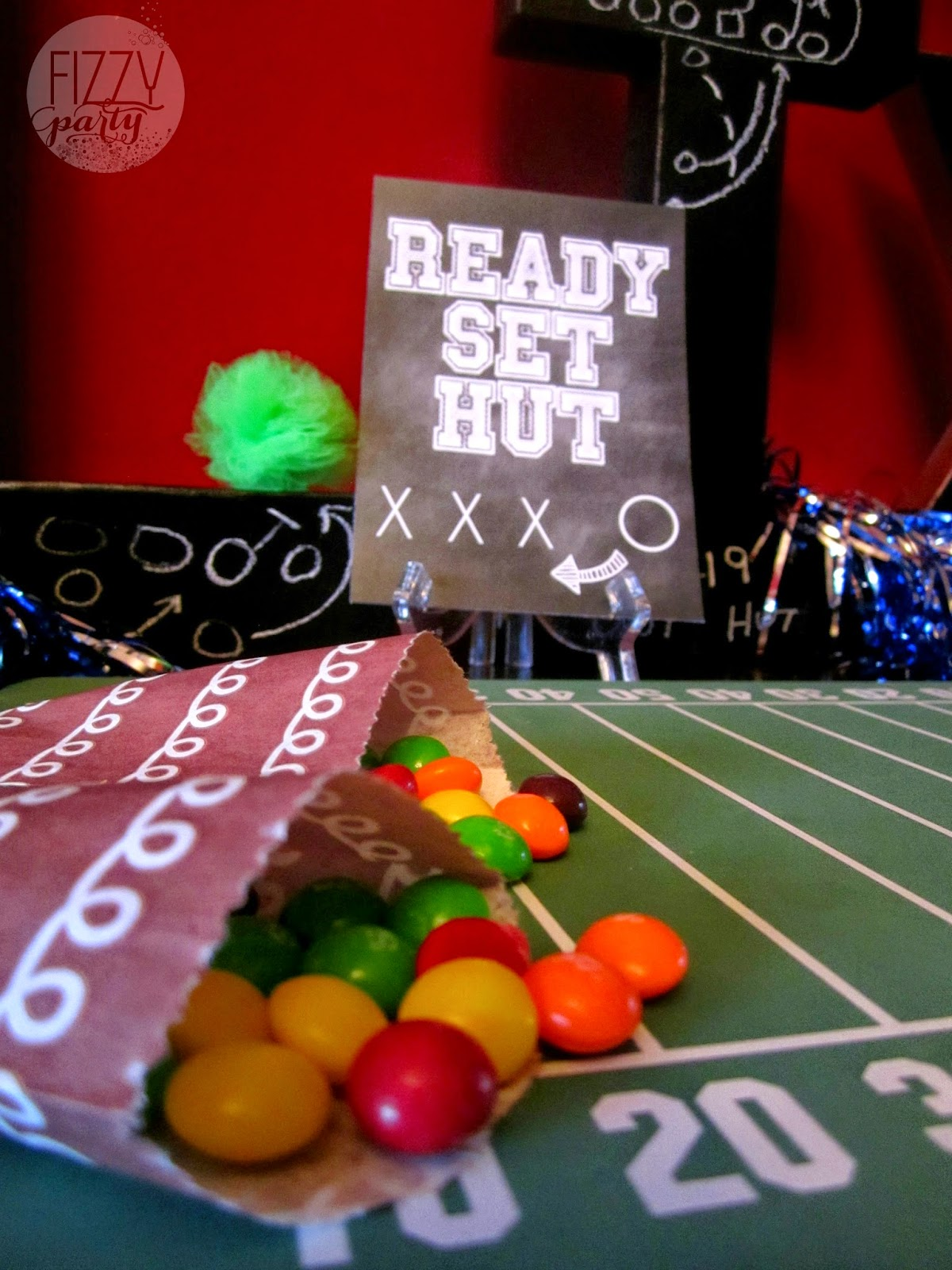 Super Bowl Party, Football Party , Skittles